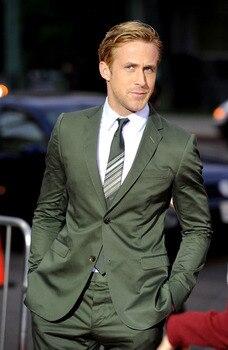 Classic Design Green Groom Tuxedos Groomsmen Two Buttons Notch Lapel Best Man Suit Wedding Men's Blazer Suits (Jacket+Pants+Tie)