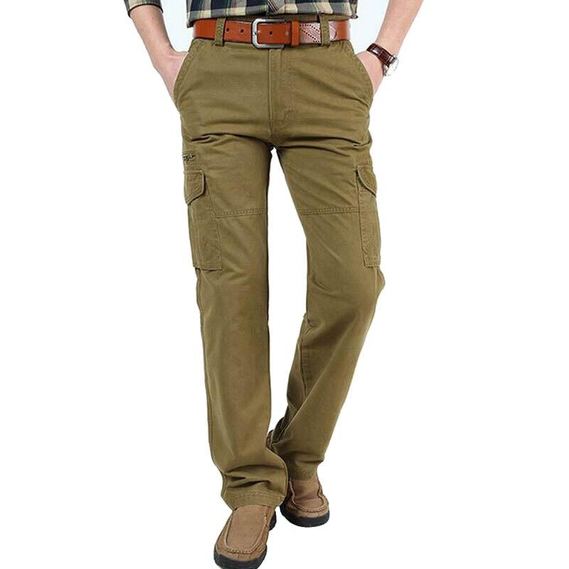 ブランドカーゴパンツ男性綿 100% ズボンメンズパンツ軍事ストレートパンツ男性パンタロンオムプラスアジアサイズ 30  44  グループ上の メンズ服 からの カジュアル パンツ の中 1