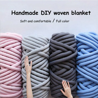 Knit Blanket Chunky Yarn Hand Knitting Spin Yarn Super Thick Natural Wool DIY Bulky Arm Roving 1000g