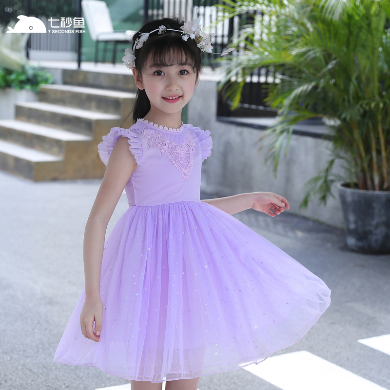 kids dresses for girls eveving party summer 2018 3-12 year rainbow wedding dress for girl kids 7 seconds fish brand new fashion женское платье brand new dilameng 6382 summer dresses