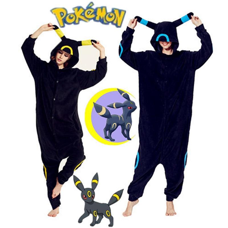 Anime Cartoon Pokemon Kawaii Umbreon Cosplay Costumes 11 Style Pajamas Women Man Kids Adults Jumpsuits Thicken Sleepwear Suits