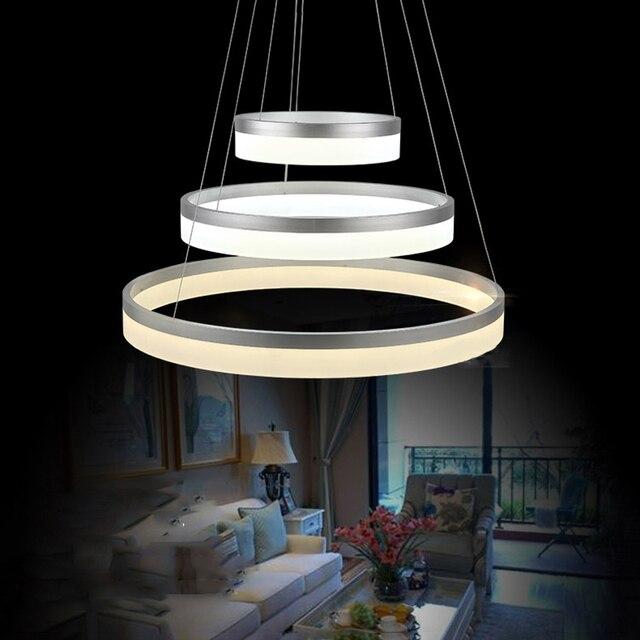 wei runde ring rund acryl led kronleuchter fr restaurant foyer schlafzimmer esszimmer kronleuchter lampe vallkin - Kronleuchter Fur Foyer