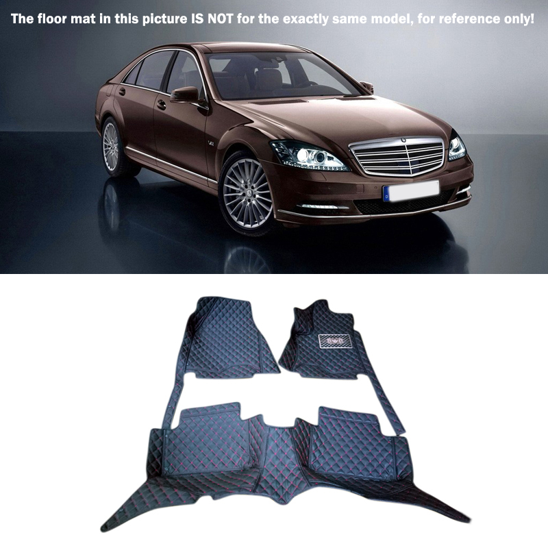 10-13 pour mercedes-benz classe S W221 2010-2013 accessoires de style de voiture intérieur tapis en cuir couverture tapis de pied de voiture tapis de sol
