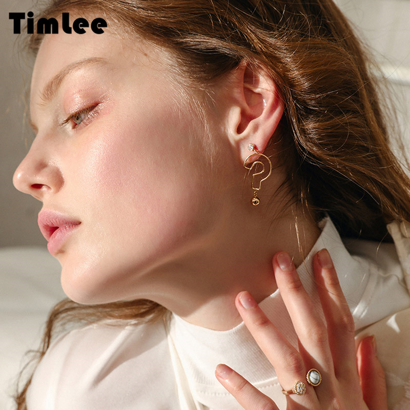 Timlee E194,Free Shipping,New Metal Question Mark Dangle Earrings,Fashion Jewelry Wholesale ...