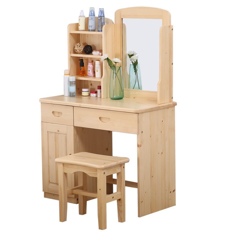 Makeup Dormitorio Tocador Camera Da Letto Comoda Para Vanity Dressing Wood Bedroom Furniture Korean Table Quarto Dresser wooden dressing table makeup desk with stool oval rotation mirror 5 drawers white bedroom furniture dropshipping