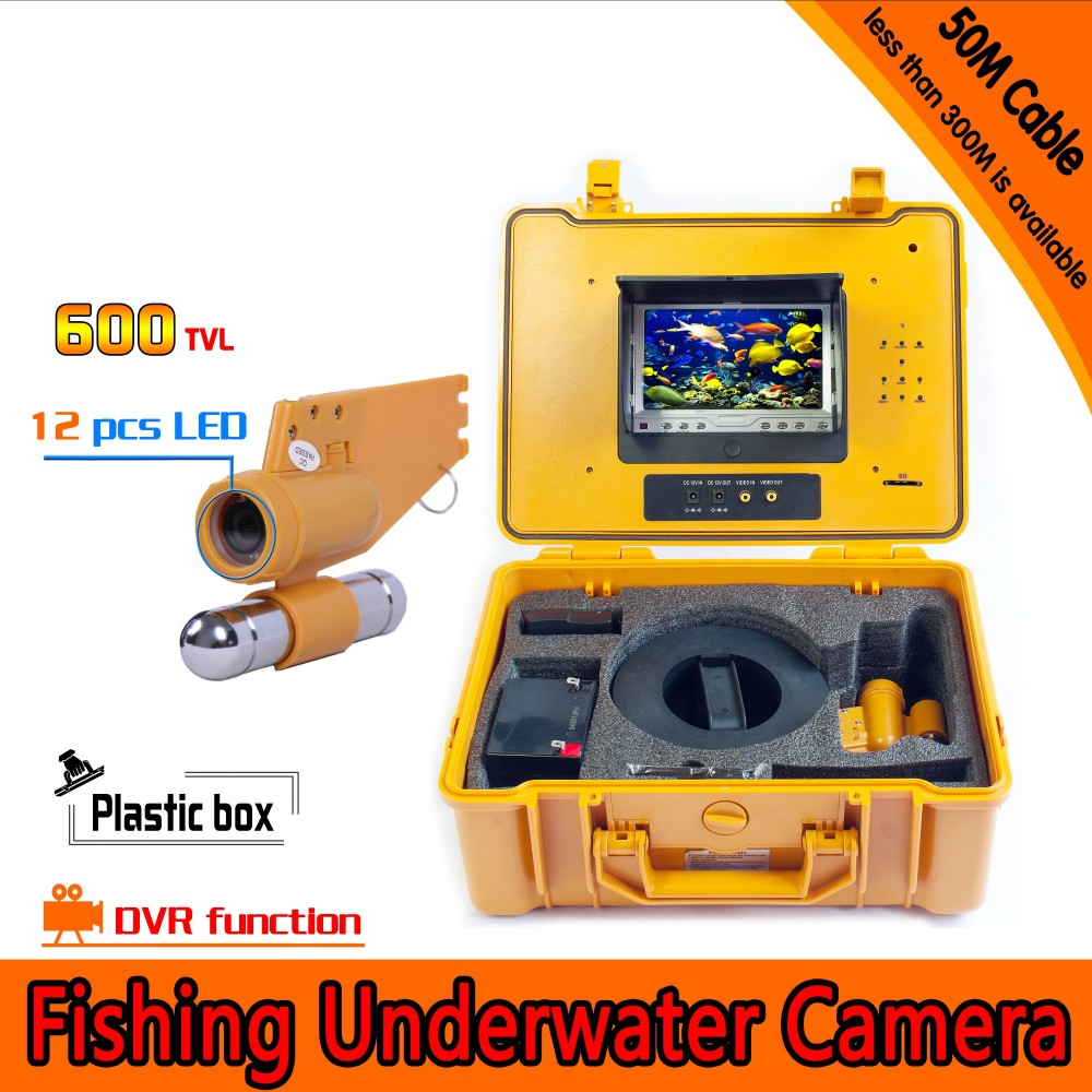 Underwater Fishing Camera Kit with 50Meters Depth Single Lead Bar & 7Inch Monitor with DVR Built-in & Yellow Hard Plastics CaseUnderwater Fishing Camera Kit with 50Meters Depth Single Lead Bar & 7Inch Monitor with DVR Built-in & Yellow Hard Plastics Case
