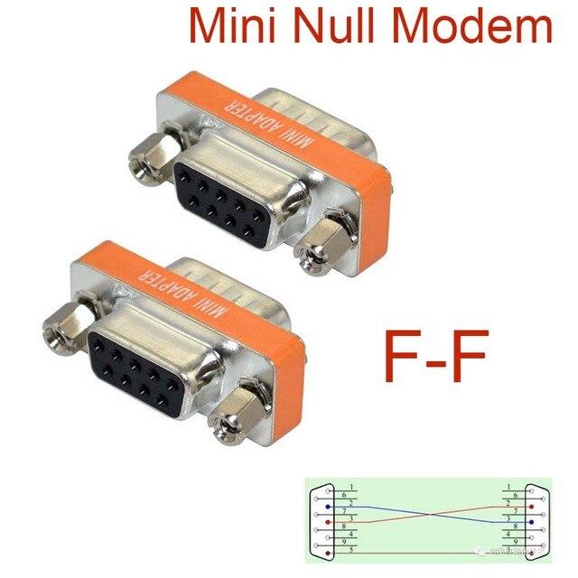 Nieuwe Mini Null Modem DB9 vrouwelijke om DB9 vrouwelijke plug Adapter Gender Changer NIEUWE