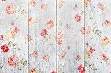 Huayi проблемных цветы на дерево фон для фотографии деревенский деревянный пол падения фото фон xt5417