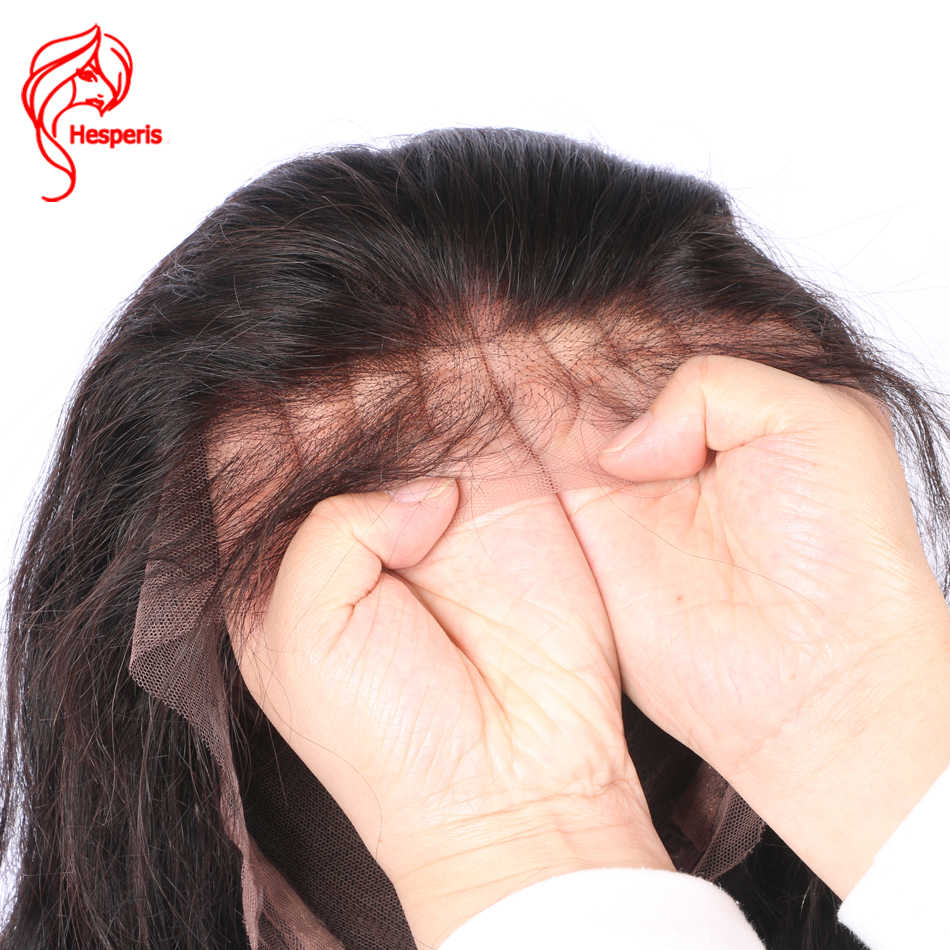Hesperis pelucas de cabello humano de encaje completo para mujeres negro Pre desplumado indio Remy recto sin pegamento Peluca de encaje completo con bebé pelo