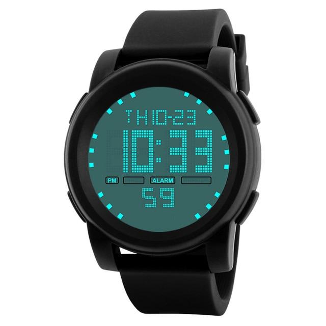 New 2018 Mens Digital Watch LED Waterproof Alarm Stopwatch Men Women Outdoor Run