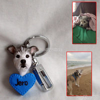 clay custom keychain from photo Creative gifts keyrings Valentine's day gift for girlfriend wedding Toys best gift for boyfriend