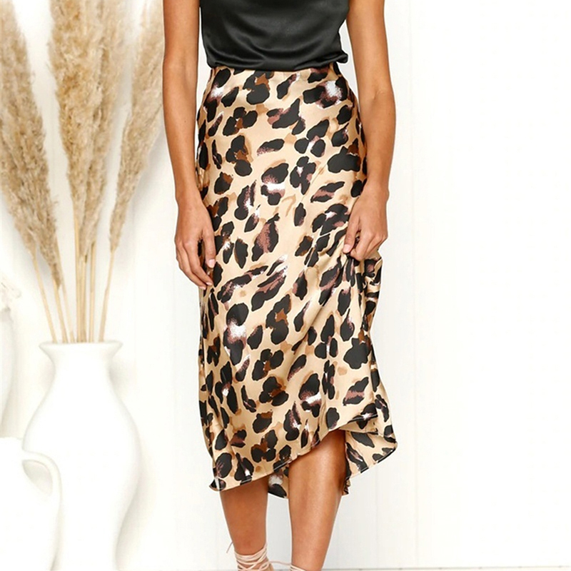 High Waist Female Skirt Sexy Women Casual leopard Home Ladies Bag Hip Skirt Spring Comfort Over The Knee women streetwear