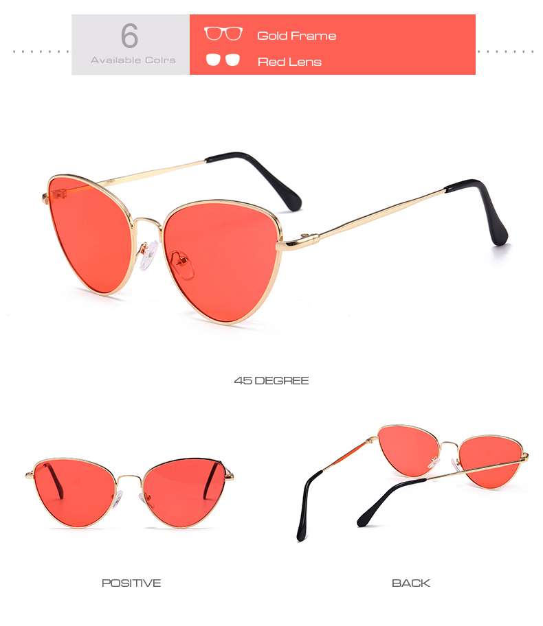 Gafas de sol de ojo de gato Vintage pequeñas y sexis para mujer 10