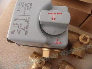 Image 4 - Robinet à bille motorisé en laiton, 3 fils, moteur à bille/actionneur électrique avec interrupteur manuel, AC220V DN15(G1/2 pouces) à DN32(G1 1/4 pouces)