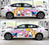 Custom Made Waterproof Japan Anime Vinyl Car Sticker Sailor Moon Cartoon body Decals Ralliart Rally Stickers Vehicle Accessories