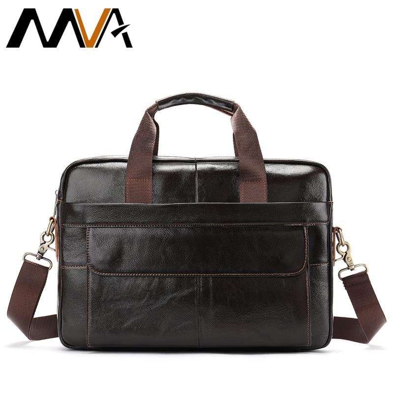 927bf86f063 MVA Laptop Bag Men Briefcase Business Travel Briefcase Handbag Messenger  Shoulder Laptop Bags Genuine Leather Bag