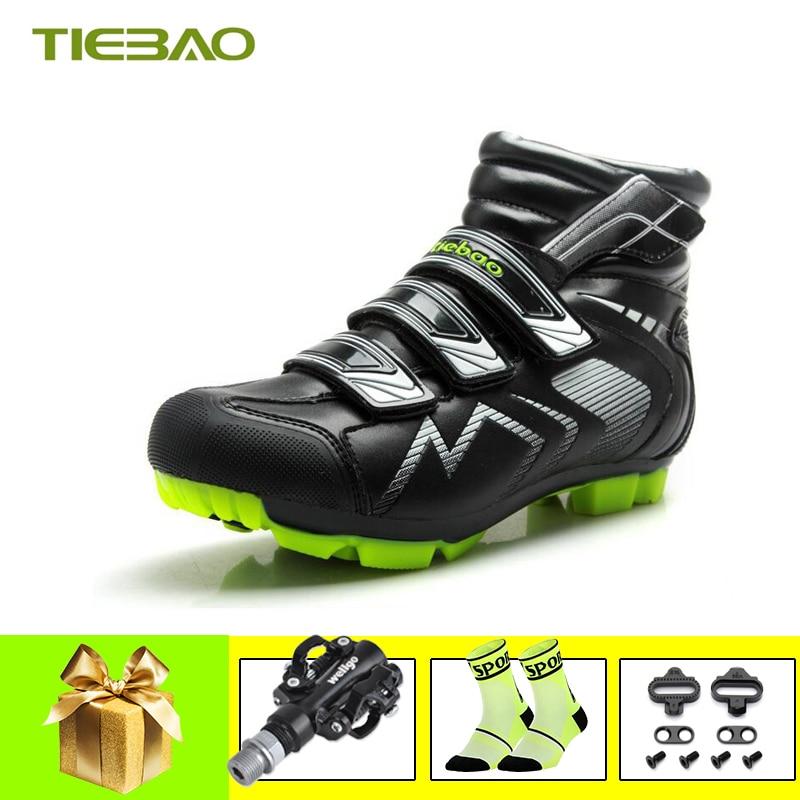 mitad de descuento d8c62 255eb Tiebao Winter zapatillas ciclismo mtb cycling shoes bicicleta triatlon  riding bicycle self-locking bicycle pedals mtb sneakers