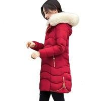 Áo Khoác mùa đông 2017 Lady Parka Dài Nữ Áo Khoác Dày áo Khoác Và Áo Khoác Phụ Nữ Chất Lượng Cao Ấm của Phụ Nữ Winter Áo Khoác C3766