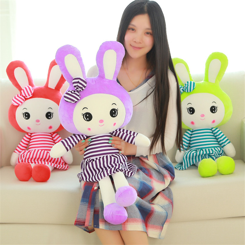 30cm Cute Soft Stuffed Animal Christmas Toys Gifts For The New Year Baby Girl Kids Calm Sleep Doll Plush Lovely Rabbit Toys the girl with all the gifts