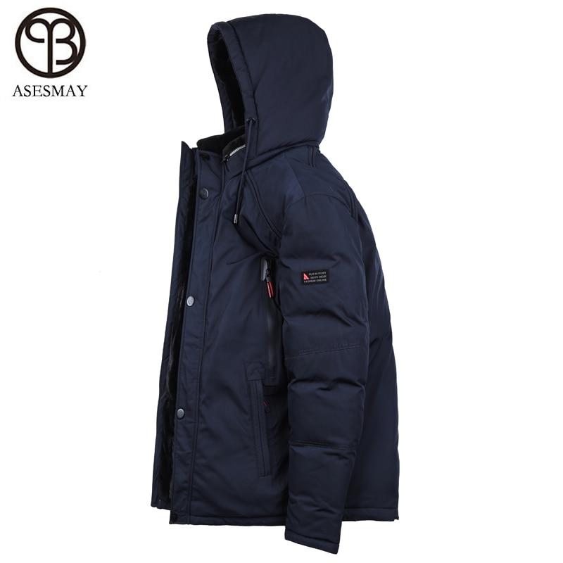 Asesmay marca jaqueta homens para baixo casaco de inverno espessamento dos homens quentes parkas destacável fur neve acolchoado homens casaco de inverno livre grátis