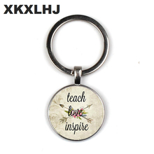 Teaching love mind, teacher jewelry, teaching love to stimulate charm, teacher gift, day care provider teacher charm keychain