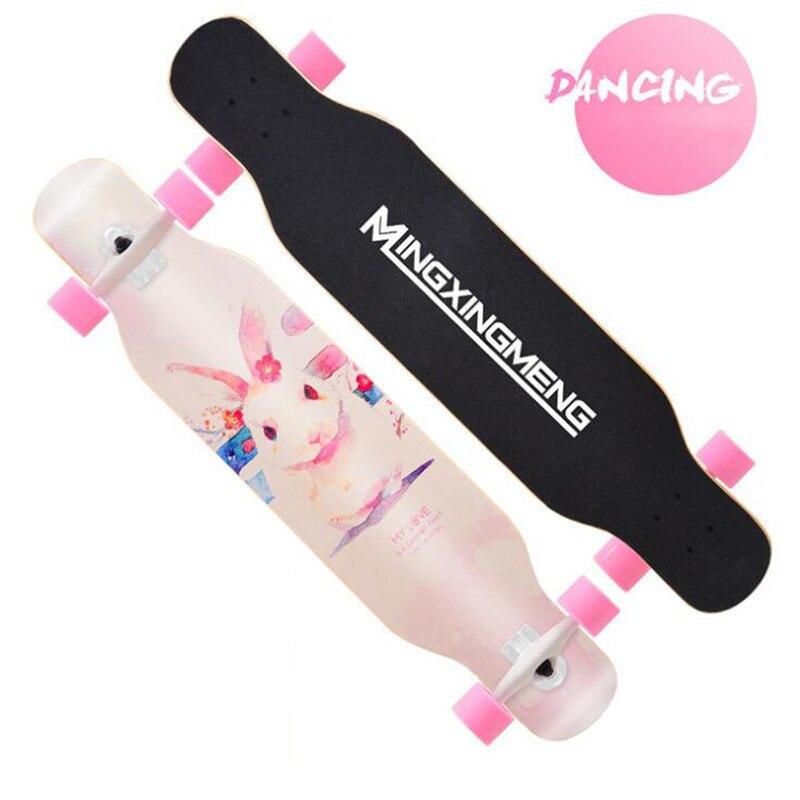 Planche à roulettes complète de danse Longboard planche à roulettes de dérive de route planche à roulettes de rue 4 roues Longboard pour la jeunesse adulte - 6