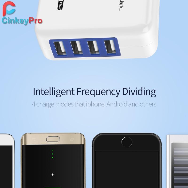 CinkeyPro 4 θύρες πολλαπλών τοίχων USB Smart - Ανταλλακτικά και αξεσουάρ κινητών τηλεφώνων - Φωτογραφία 3