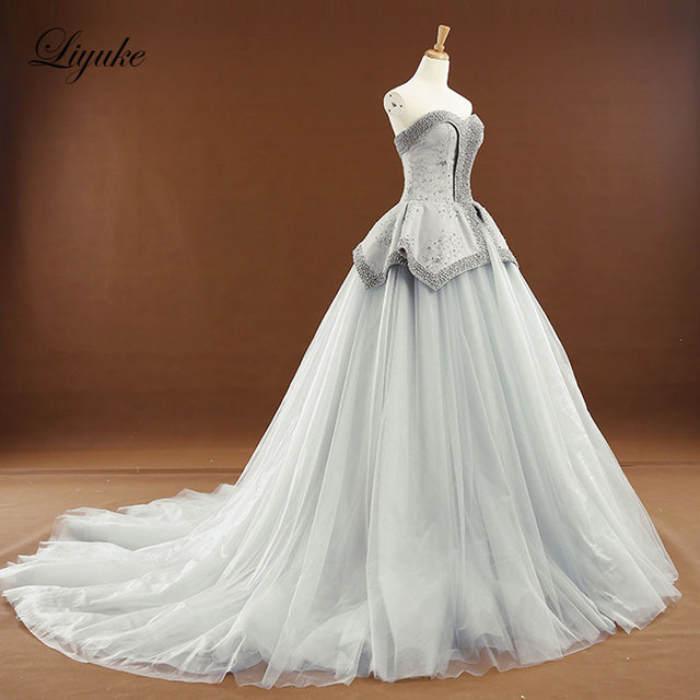 Plus Size Wedding Dresses With Color   New Arrival Elegant Off The Shoulder A Line Wedding Dress Customize