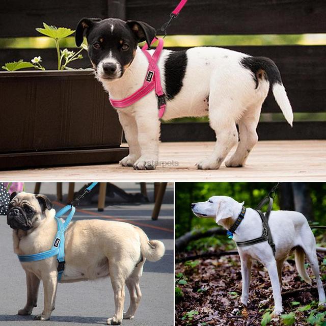 No Pull Nylon – Quick Fit Reflective Stitching Dog Harness