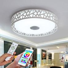 hot deal buy ceiling lights led modern lights for living room study room guest room ceiling lights lamp music for bedroom bluetooth veayas