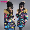 Hot SaleBaby Girls Winter Coat Children camouflage Jacket Kids WARM Thick Cotton-padded Coat Windproof Outdoor Parka Outerwear