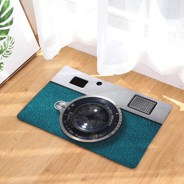 Anti-Slip 3D Camera Patterned Entrance Rug