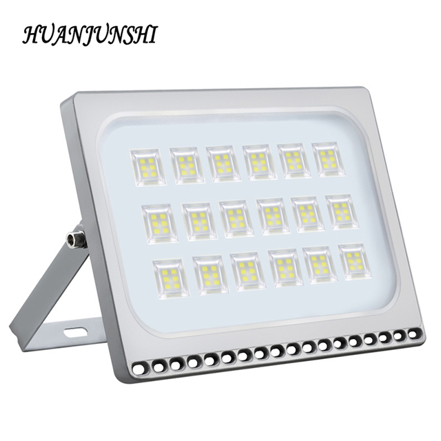 1PCS IP67 Waterproof  Ultrathin Floodlight Led 100W 220V Floodlight Outdoor Lighting Garden Wall Lamp Reflector LED Spotlight