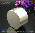 Free shipping 1pc Dia 50x30 mm hot round magnet Strong magnets Rare Earth Neodymium Magnet 50x30mm wholesale 50*30