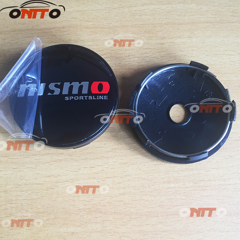Hot selling 4pcs 56mm 60mm Car emblem Wheel Center Hub Cap Wheel Dust-proof emblem covers for NISMO logo Car styling