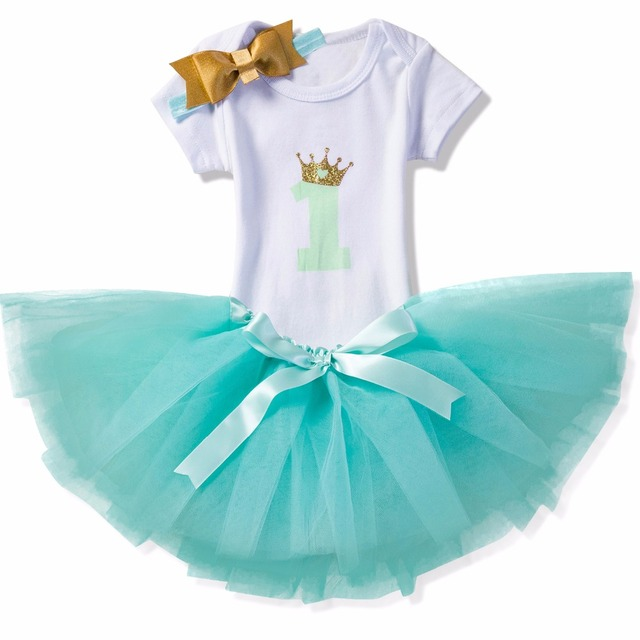 f9befc3f5 Newborn Baby Girl Clothes 1st Birthday Party Dress Kids Tulle Tutu ...