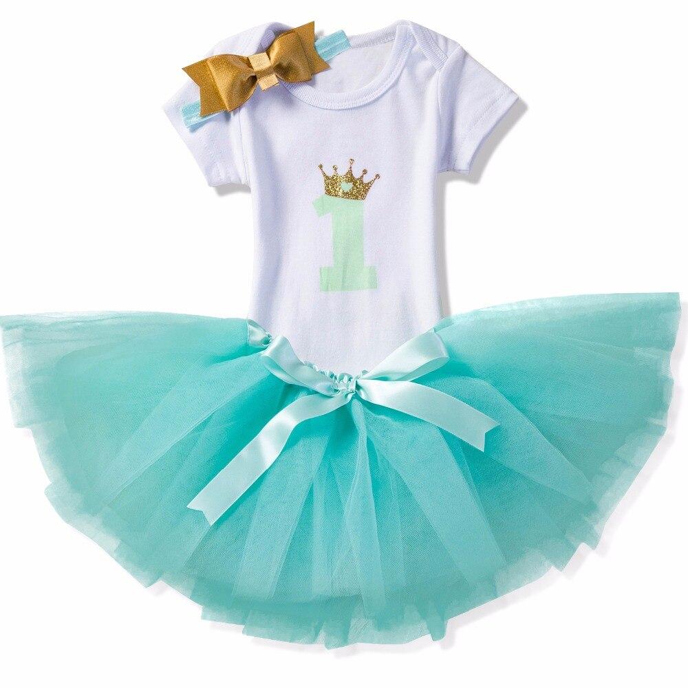 Newborn Baby Girl Vestiti 1st Birthday Party Dress Bambini Tulle ...