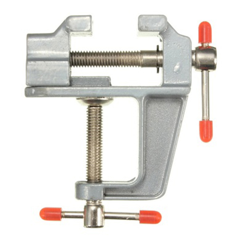 MYLB-Aluminum Miniature Small Jeweler Clamp On Table Bench Vise Tool Vice 85mm x 95mm