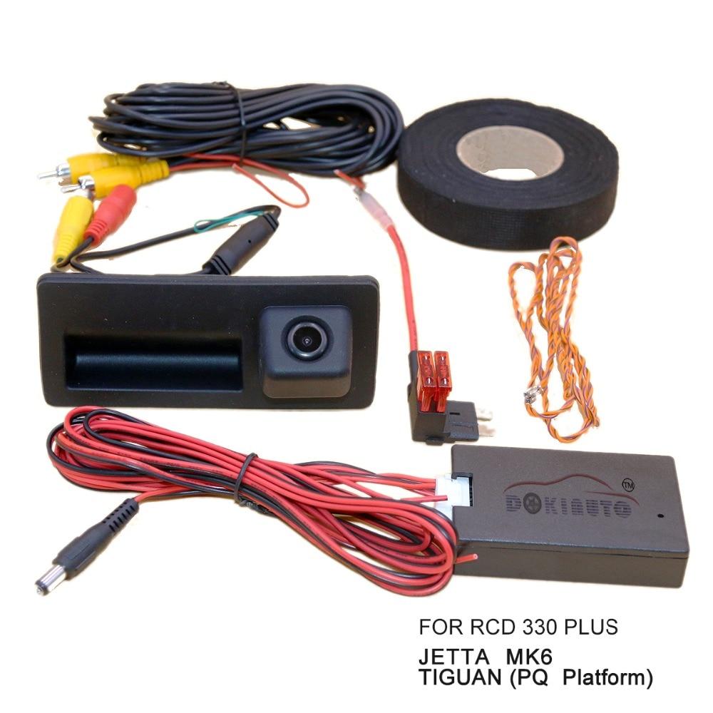 RCD330 Plus MIB Radio Carplay AV Trunk Handle Rear Camera View Reversing For VW Tiguan PQ