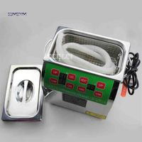 ZJMZYM New Arrival Adjustable Household 304 Stainless Steel Ultrasonic Cleaners BG 02C Digital Cleaning Machine 220v 100W 3 L