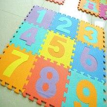 Nuevo 10 unids/set 30*30 cm EVA Puzzle Mat Alfombra Estera Del Juego Del Bebé Bebé rompecabezas Colchonetas De Espuma De Pisos Número Cartas Animal Mat Para dormitorio