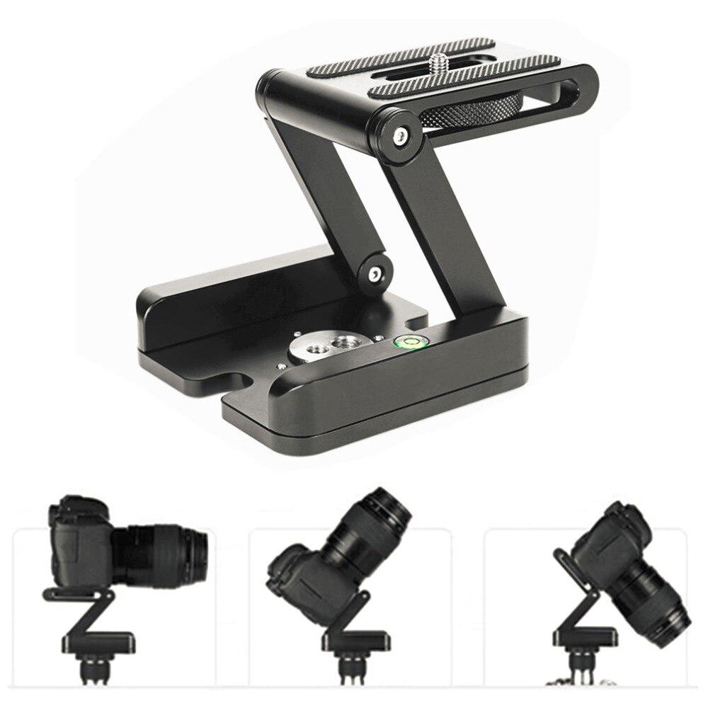 Pliage Z Type de Support de Stand Professionnel Trépied Kit Flex Tilt Tête Pan Rotule Pliant De Bureau Compatible Caméra Caméscope