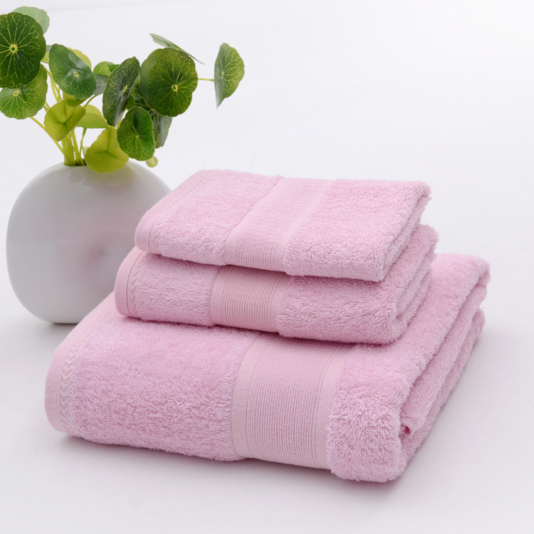 2018 antibacterial pink bathroom towel sets bamboo beach bath towels for adults luxury face body wash cloth shower towels 3 pcs in towel sets from home - Pink Bathroom Towels