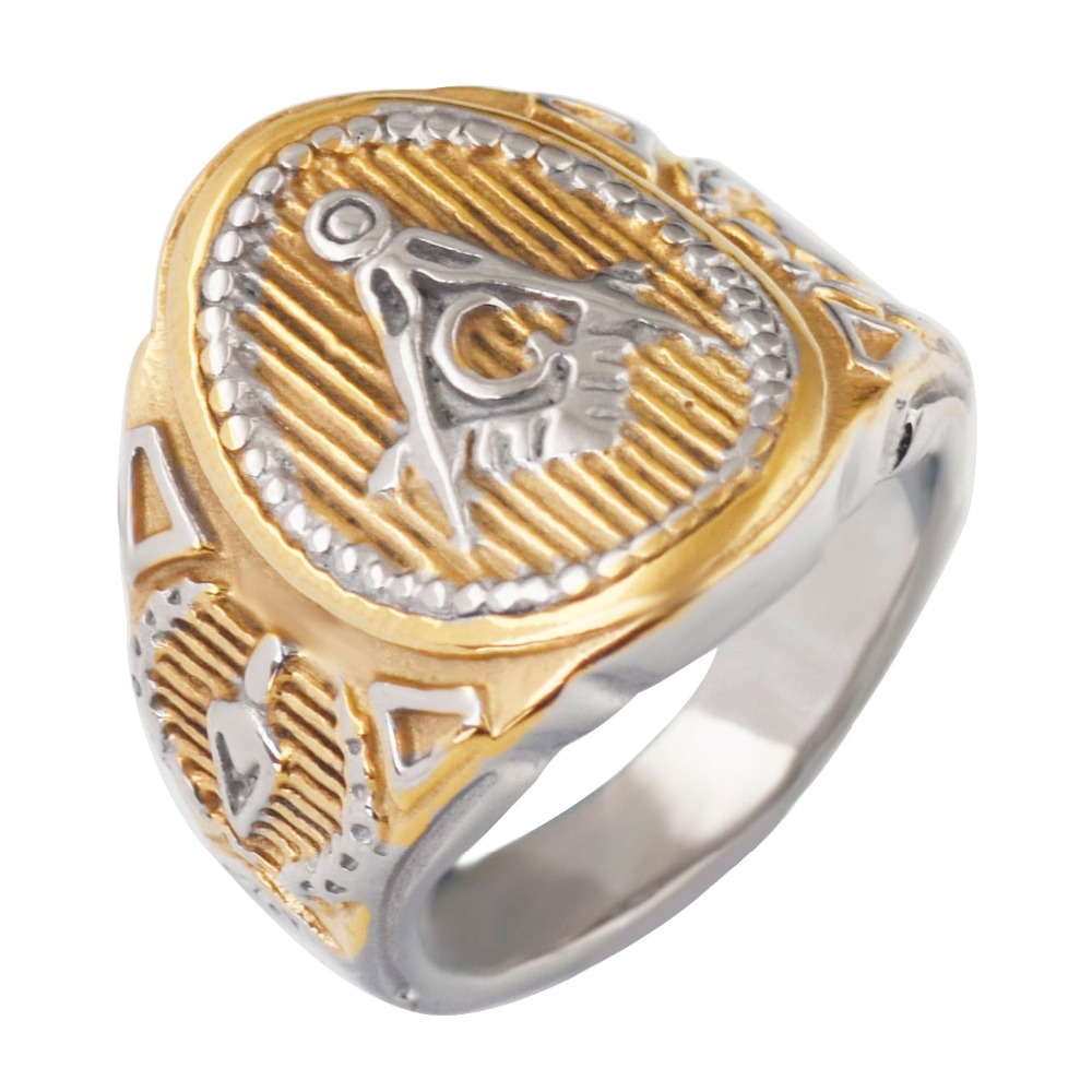 ring signet men freemason gold party masonic in s rings mason steel accessories jewelry plating from stainless aliexpress com on item