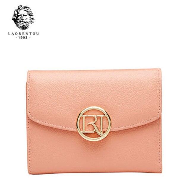 89e7dd54323 LAORENTOU Retro Leather Wallet New Genuine Leather Lady Wallet Fashion Women  Wallets Simple And Stylish Women Leather Purse