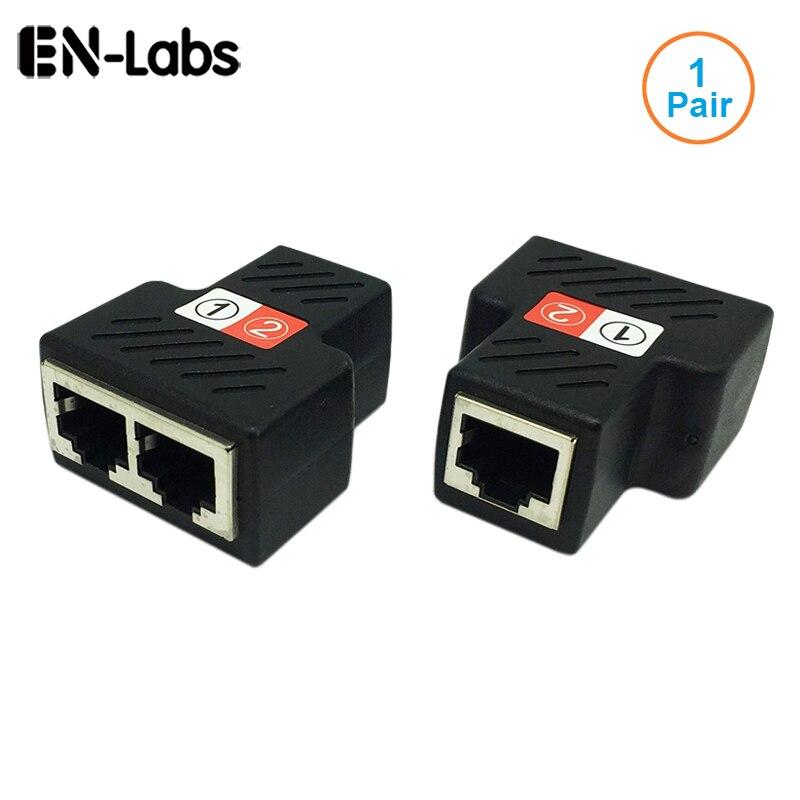 1 par rj45 divisor adaptador, fêmea rj45 1 a 2 porto fêmea ethernet acoplador, suporta dois dispositivos acesso à internet simultaneamente