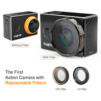 ThiEYE V6 4K Action Helmet Camera Wifi 2.0'' Screen Underwater 60m Diving Cam Go Extreme Sports Video Mini waterproof Camera 2