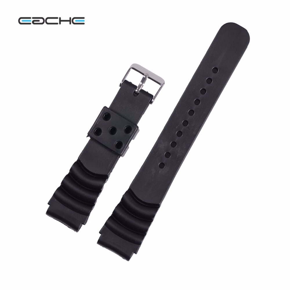 EACHE Black 18mm 20mm 22mm Replacement Watch Band Fit For g shock Silicone Rubber Watch Straps