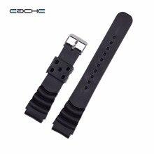 EACHE Noir 18mm 20mm 22mm Bande De Montre De Remplacement Fit Pour g-choc En Caoutchouc de Silicone Bracelets De Montre étanche Bracelet