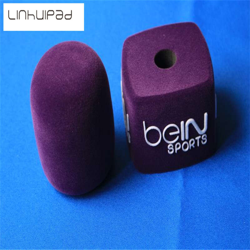 Linhuipad DV-04 Pile Coating Purple Interview Microphone Windscreen Foam Cover,Inside Diameter: 40mm (about1.57) Fast Shipping